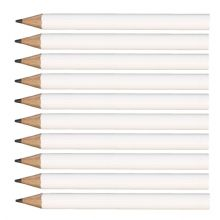 White Round Wooden Mini Half Golf Pencils